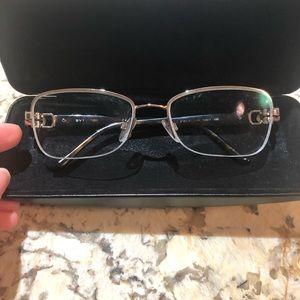 Bulgari eye glasses beautiful crystal side accents